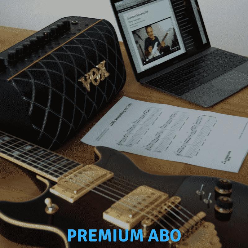 Gitarre lernen online Premium Abo