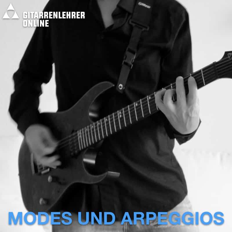 Gitarre lernen online Modes Arpeggios
