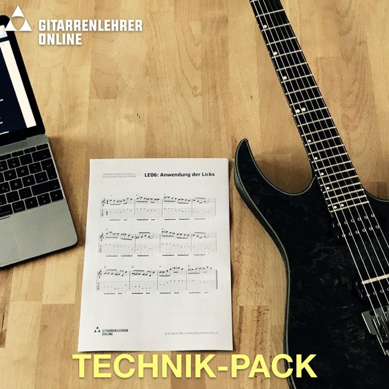Gitarre lernen online Technik Pack