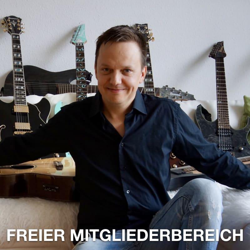 Gitarre lernen online Freier Mitgliederbereich