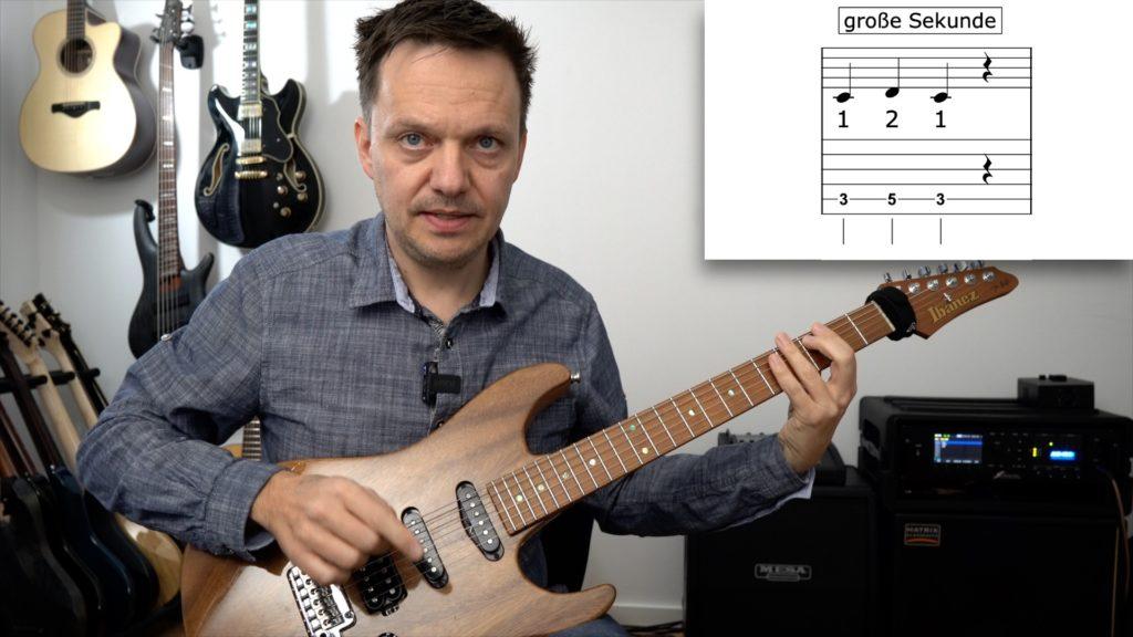Gitarre lernen online große Sekunde