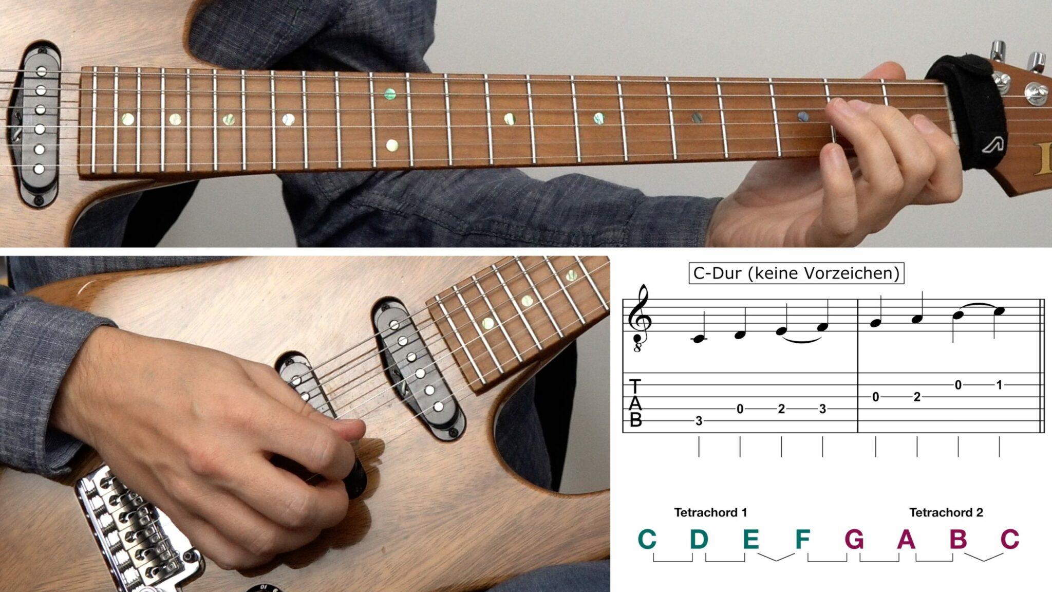 Theorie Gitarre lernen online C-Dur