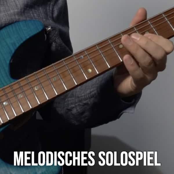 Gitarre melodisches Solospiel