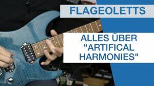 Gitarre Flageoletts Artifical Harmonies
